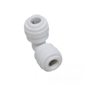 "3/8"" Tube x 1/4"" Tube Quick Connect Reducing Elbow"