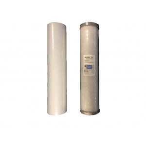 Twin Wholehouse Replacement Water Filter Set Pleated + PB1