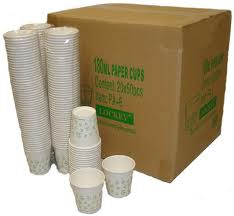 1 x Box Paper Cups 1000 per box with print 180ml